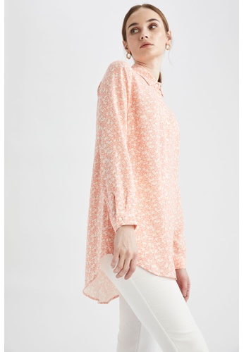 DeFacto pink Woman Woven Long Sleeve Tunic 3FB62AAA05C46AGS_1
