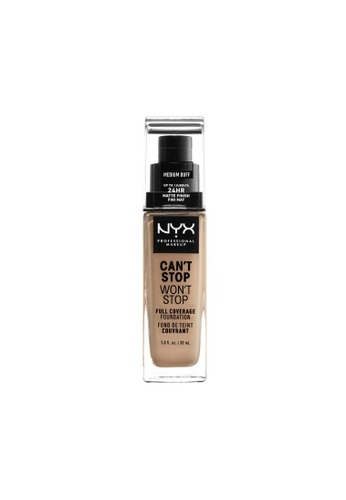 NYX Professional Makeup brown NYX Professional Makeup Can't Stop Won't Stop 24HR Foundation - MEDIUM BUFF 885C9BE1A3F1AEGS_1