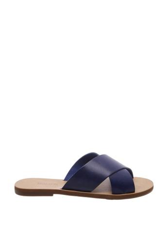 Anacapri 海軍藍色 Cross Flat Sandals 48E3CSH51A4B40GS_1