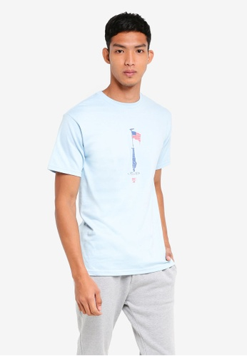 OBEY blue Land Of Opportunity t-Shirt 29F9BAA3466B28GS_1