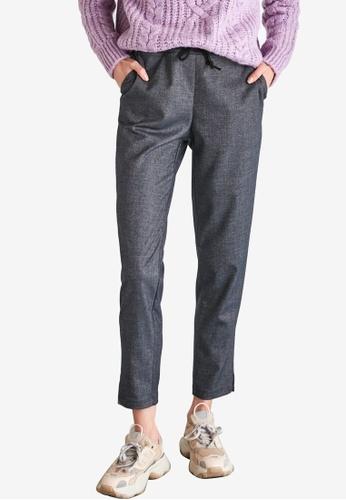 Trendyol grey Tie High Waist Pants 62A88AA38F4D55GS_1