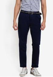ESPRIT navy Woven Cropped Pants ES374AA85WXYMY_1
