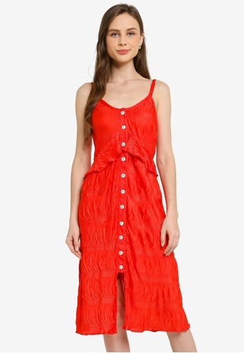 LC Waikiki red Ruffle Detailed Strappy Dress D21A4AA66D01DBGS_1