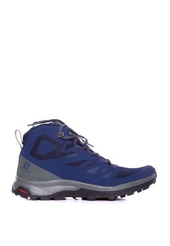 Salomon blue Salomon Outline Mid GTX Medieval B/Castor ACCD1SH29FF2D9GS_1