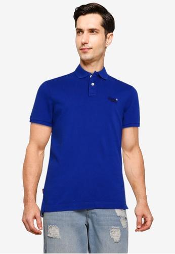 SUPERDRY blue Classic Pique Short Sleeve Polo Shirt FC5B1AAA094989GS_1