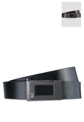 Playboy black and brown Playboy 35mm Reversible Belt PL371AC0SK1KMY_1