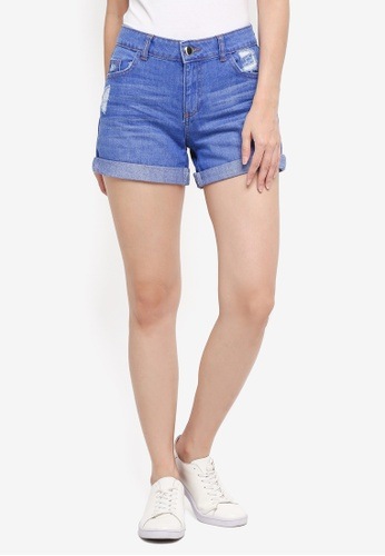Dorothy Perkins blue Bright Blue Boy Shorts BC448AAD5EA83AGS_1