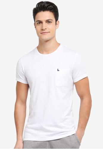 Jack Wills white Ayleford Pocket T-shirt 954BCAA6C3DF77GS_1