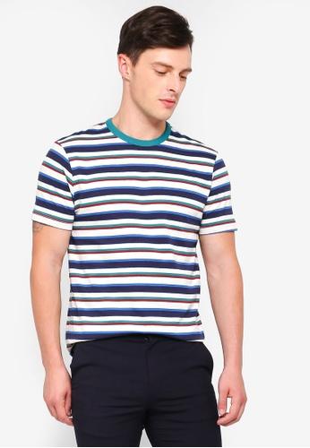 Topman multi Green Striped T-Shirt 31543AAE9E3725GS_1