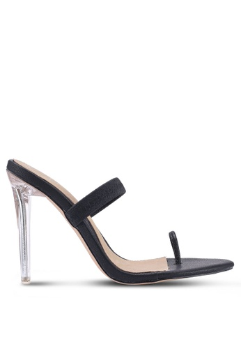 cadfcd47f9f0 MISSGUIDED black Toe Post Barely There Heels 8B78BSHE3F23C7GS 1