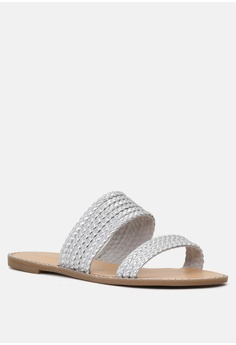 0a0a8ae8cfe 10% OFF London Rag Flat Sandal with Weaved Straps HK  399.00 NOW HK  359.10  Available in several sizes · London Rag black Black Cross Strap Flatform  Sandals ...