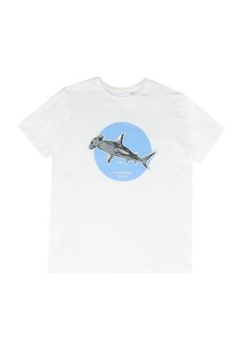 MANGO KIDS white Boats Printed Cotton T-Shirt 96CB2KACC3CC93GS_1