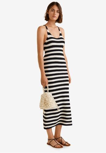 Mango black Striped Jersey Dress C858CAA9733BCCGS_1