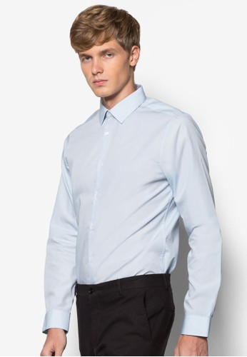 素色長esprit 中文袖襯衫, 服飾, 素色襯衫