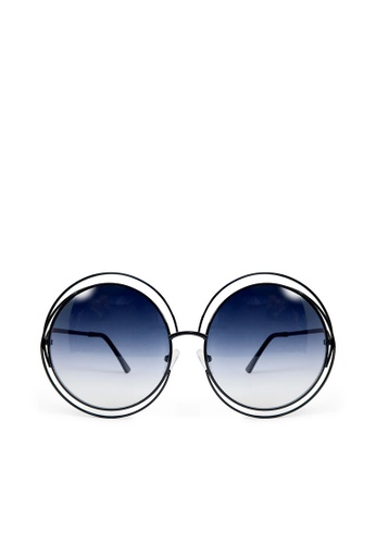 ASLLY black and multi Queen's Magic│Black Round Sunglasses 8EFBEGL528B60CGS_1