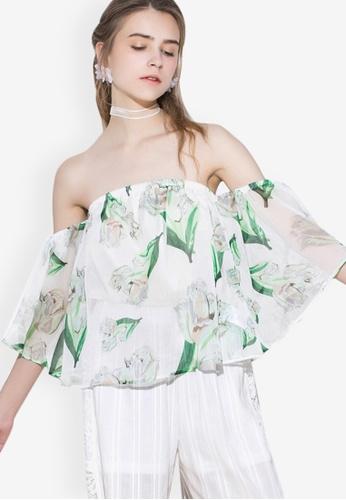 92b6d61423a Shop Sunnydaysweety Sexy Chiffon Off-shoulder Top Online on ZALORA  Philippines