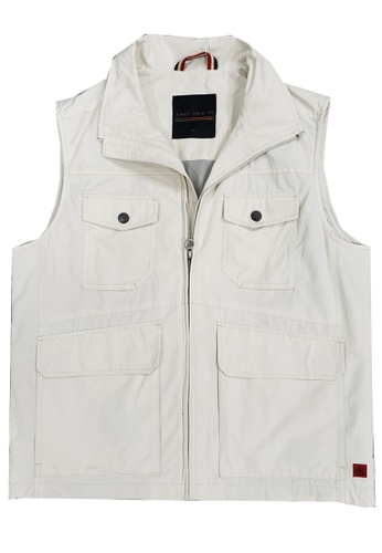 East Pole beige Men's Outdoor 4 Pockets Spring Summer Fishing Vest FC066AA23B73A1GS_1