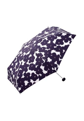 WPC blue WPC Flower Print Mini Umbrella (Navy) 3E09CACFC2D33CGS_1