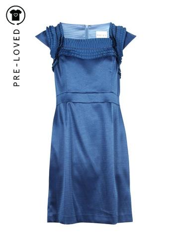 Reiss blue Pre-Loved reiss Lou Pleated Shoulder Dress 053E9AA68E9BD6GS_1