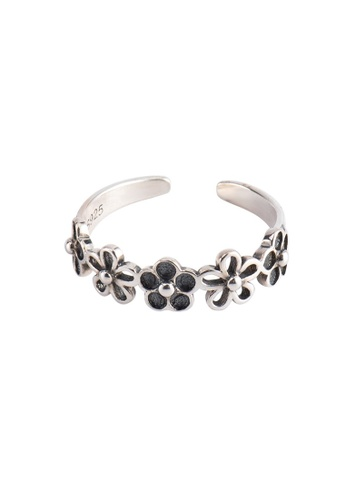 A-Excellence silver Premium S925 Sliver Flower Ring BD995AC24C2BAEGS_1