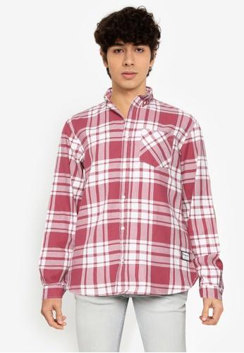 JACK & JONES pink Layton Long Sleeves Shirt 95786AA12110F5GS_1