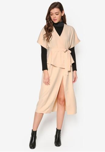 裹飾zalora時尚購物網評價傘擺及膝洋裝, 服飾, 貼身誘惑
