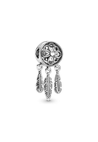 PANDORA silver Pandora Spiritual Dreamcatcher Charm E9DC4AC79261E5GS_1