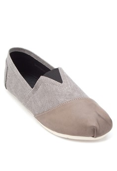 Mixed Material Slip Ons