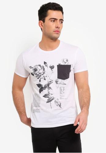 OVS 白色 短袖印花T恤 53424AA2A5FF6AGS_1