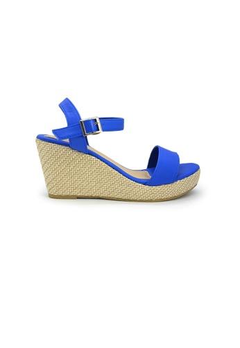 SHINE blue Strapy Platform Wedge Sandals SH554SH0GNWPSG_1