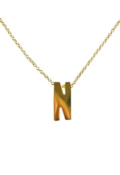 N Stainless Letter Necklace