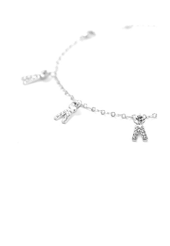 Glamorousky silver Fancy Trousers Anklet with Silver Austrian Element Crystals 7FCAEAC4EC4746GS_1