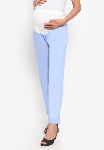 Chantilly blue Maternity Cotton Boot Pants EF93EAA03B36B6GS_1