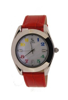 Japan Design Austrialian Pearl Shell Dial with Japanese Cow Skin Leather Band Watch