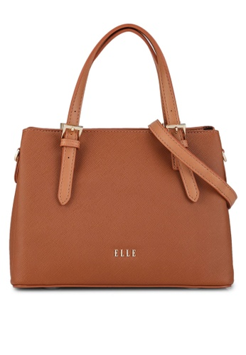 ELLE brown Iris Medium Carry Bag 299F6ACF296407GS_1