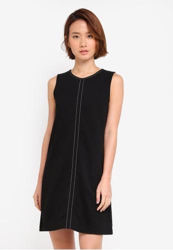 ZALORA black Stitch Detail Dress 649B2AAE7B71B1GS_1