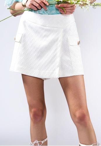 miss Viola white CHECK-JACQUARD CULOTTES 6064DAAC5964E5GS_1