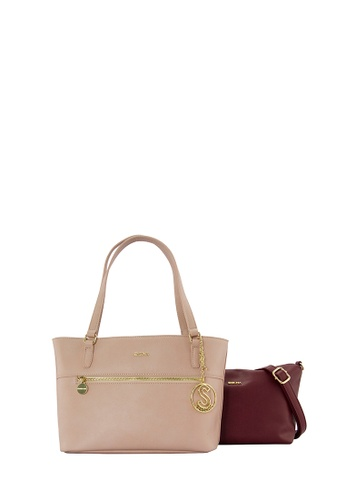 SEMBONIA pink SEMBONIA Synthetic Leather Tote Bag (Pink) SE598AC0SBCAMY_1