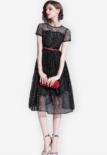 Sunnydaysweety black Lace See Through One Piece Dress D934CAA4FE3BF6GS_1