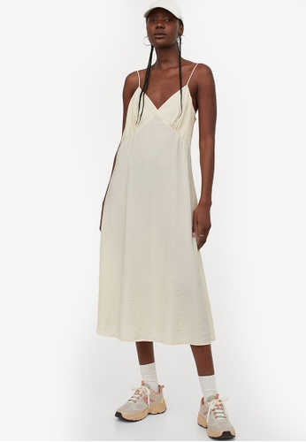 H&M beige Slip Dress A02C2AA86B7501GS_1