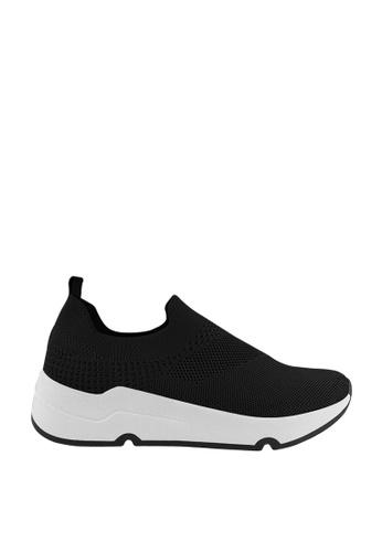 CO BLANC black CO BLANC Stretch Fabric Sneakers 1B37BSH026B9B9GS_1