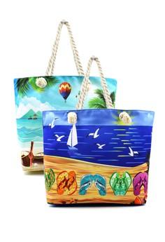 Beach Tote Bag 2 in 1