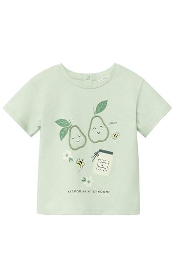 MANGO BABY green Organic Printed Cotton T-Shirt 21370KA3F17593GS_1