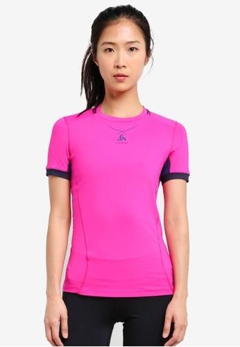 Odlo multi Crew Neck Ceramicool Pro Short Sleeve Shirt OD608AA0S11FMY_1