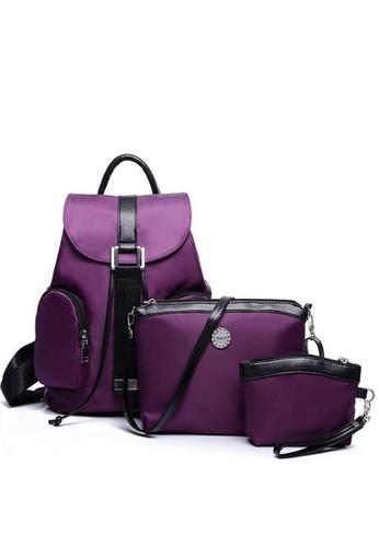 TCWK purple Set of 3pcs Ladies Backpack TC258AC34LZLMY_1
