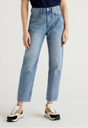 United Colors of Benetton blue 100% Cotton Boyfriend Jeans CE890AA9CB93A2GS_1