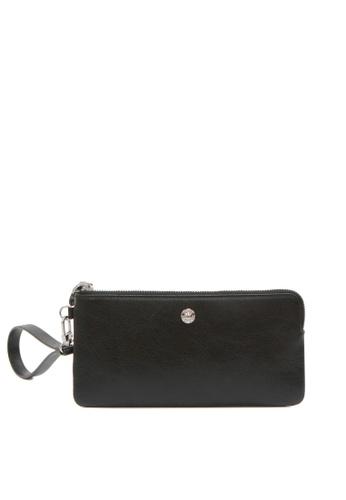 Enjoybag black Alice Leather Zip Wristlet EN763AC2VPCDHK_1