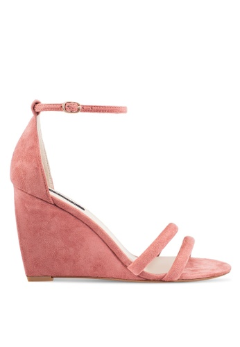 ZALORA pink Strappy Wedges FB296SHB740B85GS_1