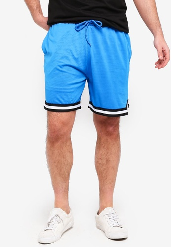 Factorie 藍色 條紋短褲 8F2D7AA9284BC6GS_1