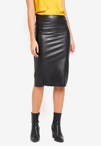 Buy River Island Faux Leather Pencil Skirt  e0c8e1669